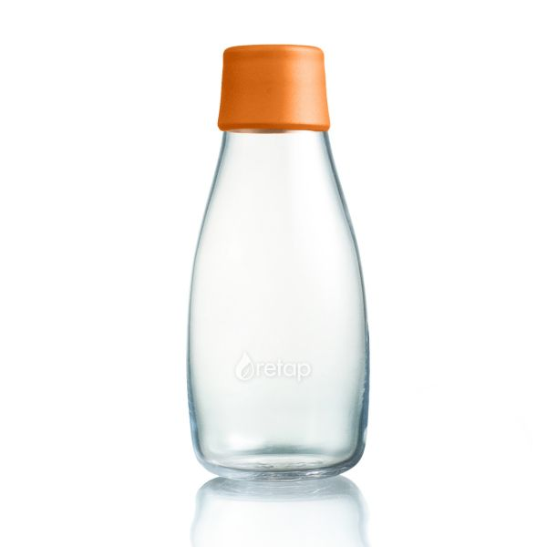 Retap 0,3l Glas Trinkflasche in Orange