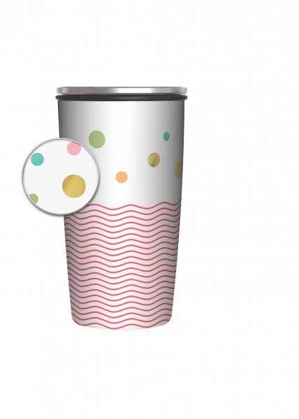"Slide Cup Deluxe ""Dots and Waves"""