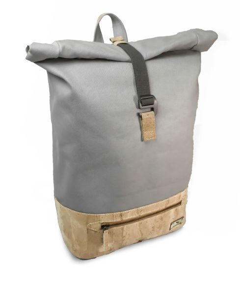Kork Rucksack in hellgrau - Daily Tern Cream