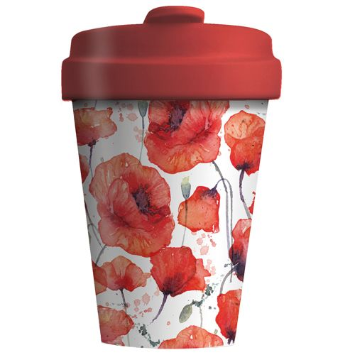 "BambooCup ""Poppy Flowers"""