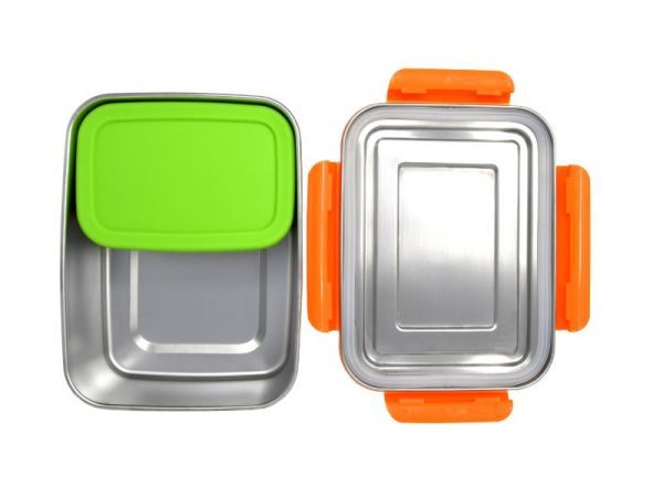 ECOtanka™ 2l LunchBOX mit Rahmen in orange und 1 x MiniBOX