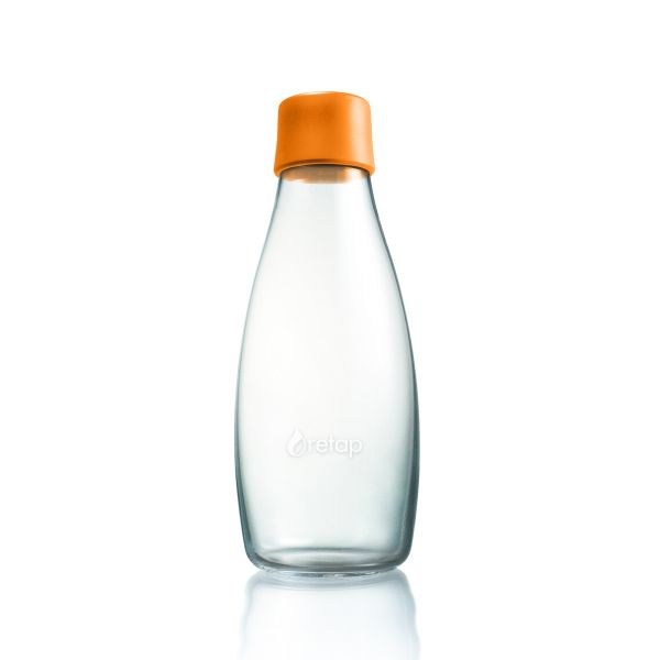 Retap 0,5l Glas Trinkflasche in Orange