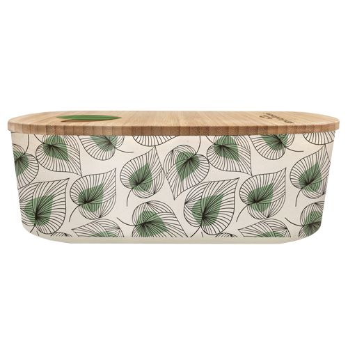 Bioloco Plant Lunchbox oval-line art leaves