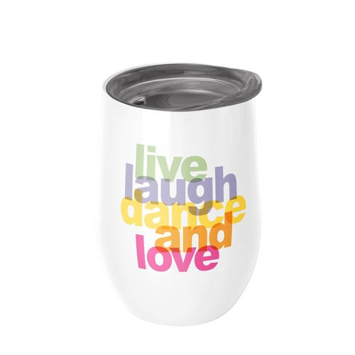 Bioloco office Edelstahl Trinkbecher-live laugh dance and love