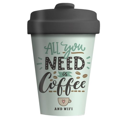 "BambooCup ""All you need is coffee"""